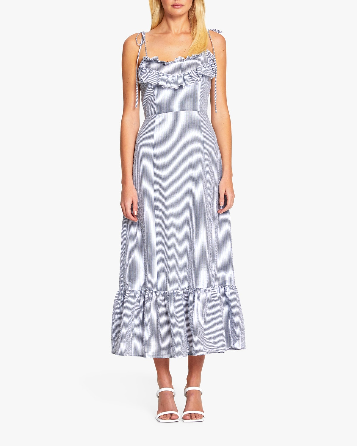 Alice McCall's French-inspired midi dress with ruffle detailing.