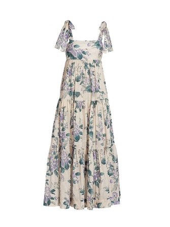 ZIMMERMAN's floral-printed halter dress.