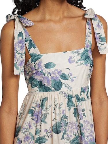 Cassia Tie Shoulder Halter Dress: additional image