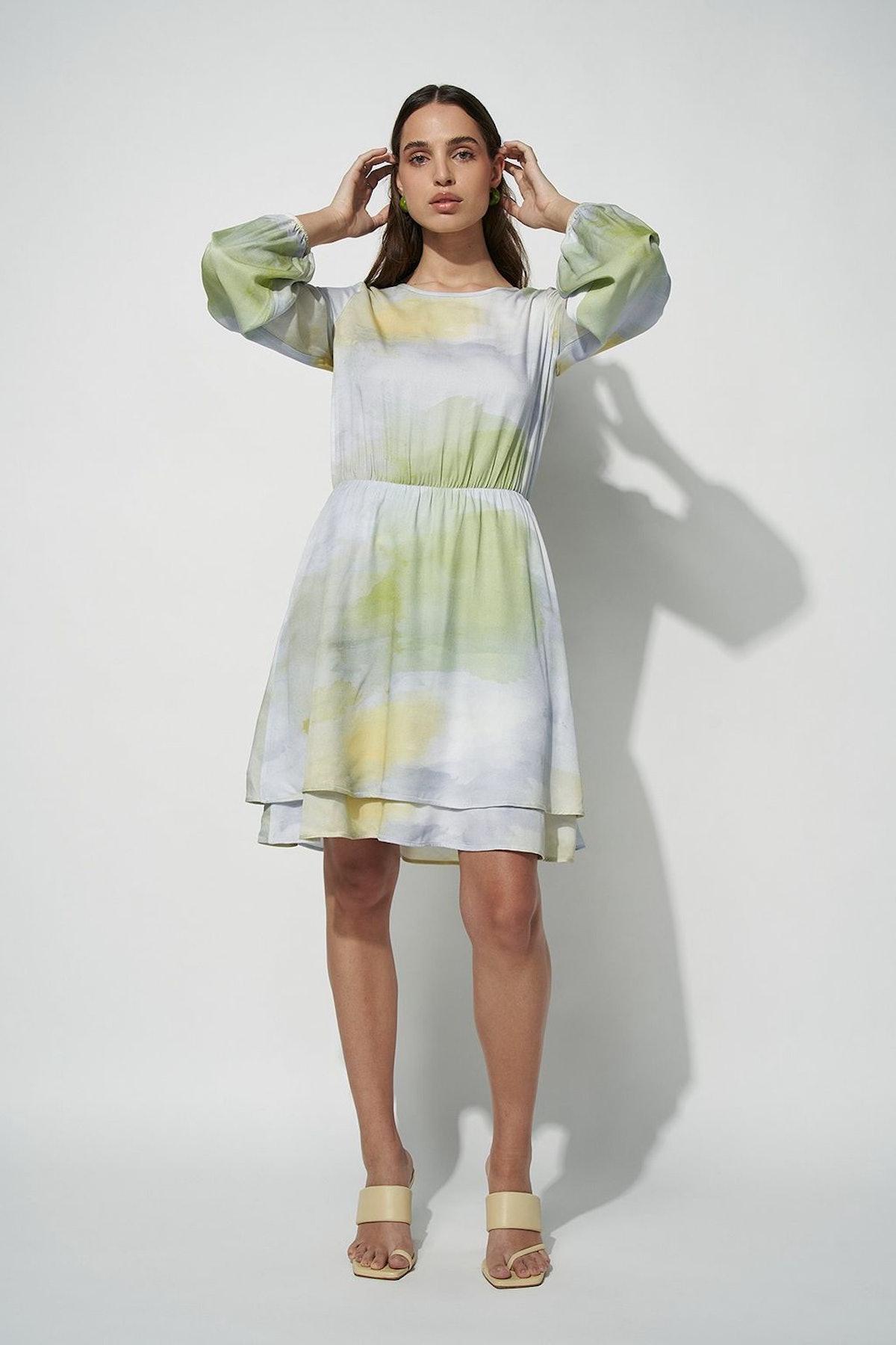 @Basm for nu-in's tie-dye mini dress.