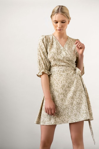 A silk wrap dress from Residus.