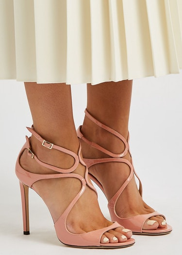 Lang 105 blush cut-out leather sandals: additional image