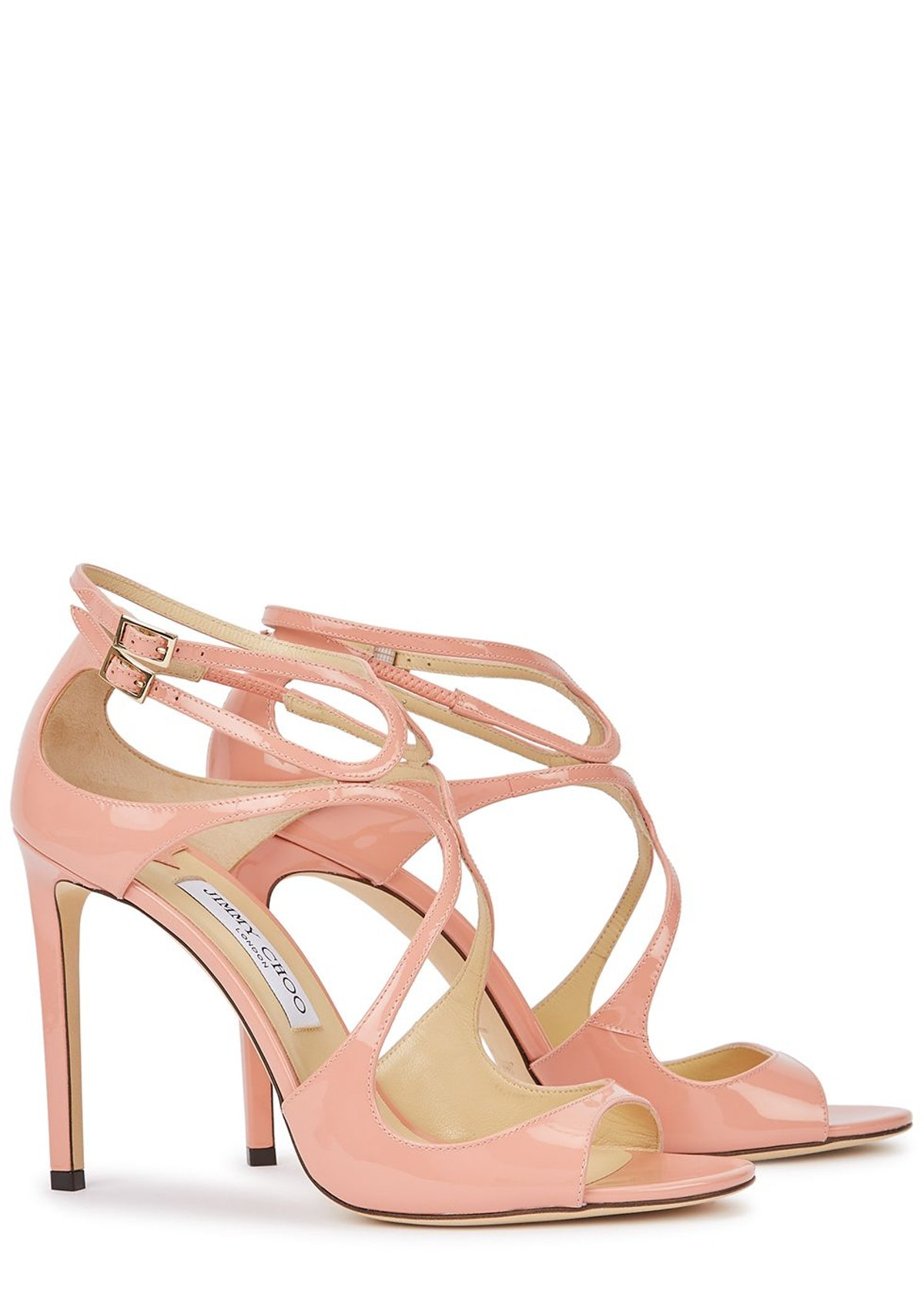 Lang 105 blush cut-out leather sandals: image 1