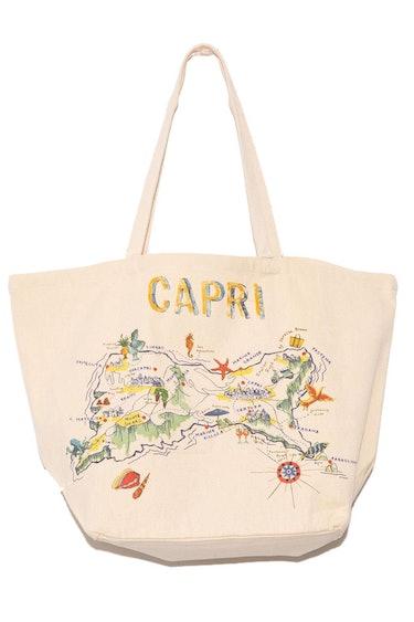 """""""Capri"""" Tote Bag in Ecru: image 1"""
