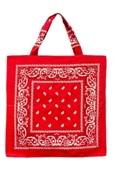 Bandana Beach Bag in Red: additional image