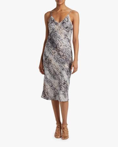 Cami Bias Midi Slip Dress: additional image