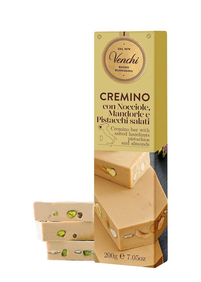 White Chocolate Gianduja with Salted Nuts Soft Bar 200g: image 1