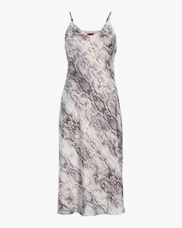 Cami Bias Midi Slip Dress: image 1