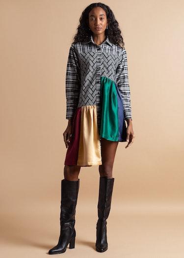 Rainbow Shirt Dress: image 1