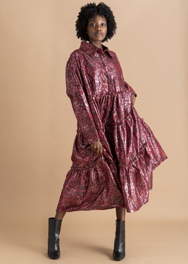 Naddie Jacquard Shirt Dress: additional image