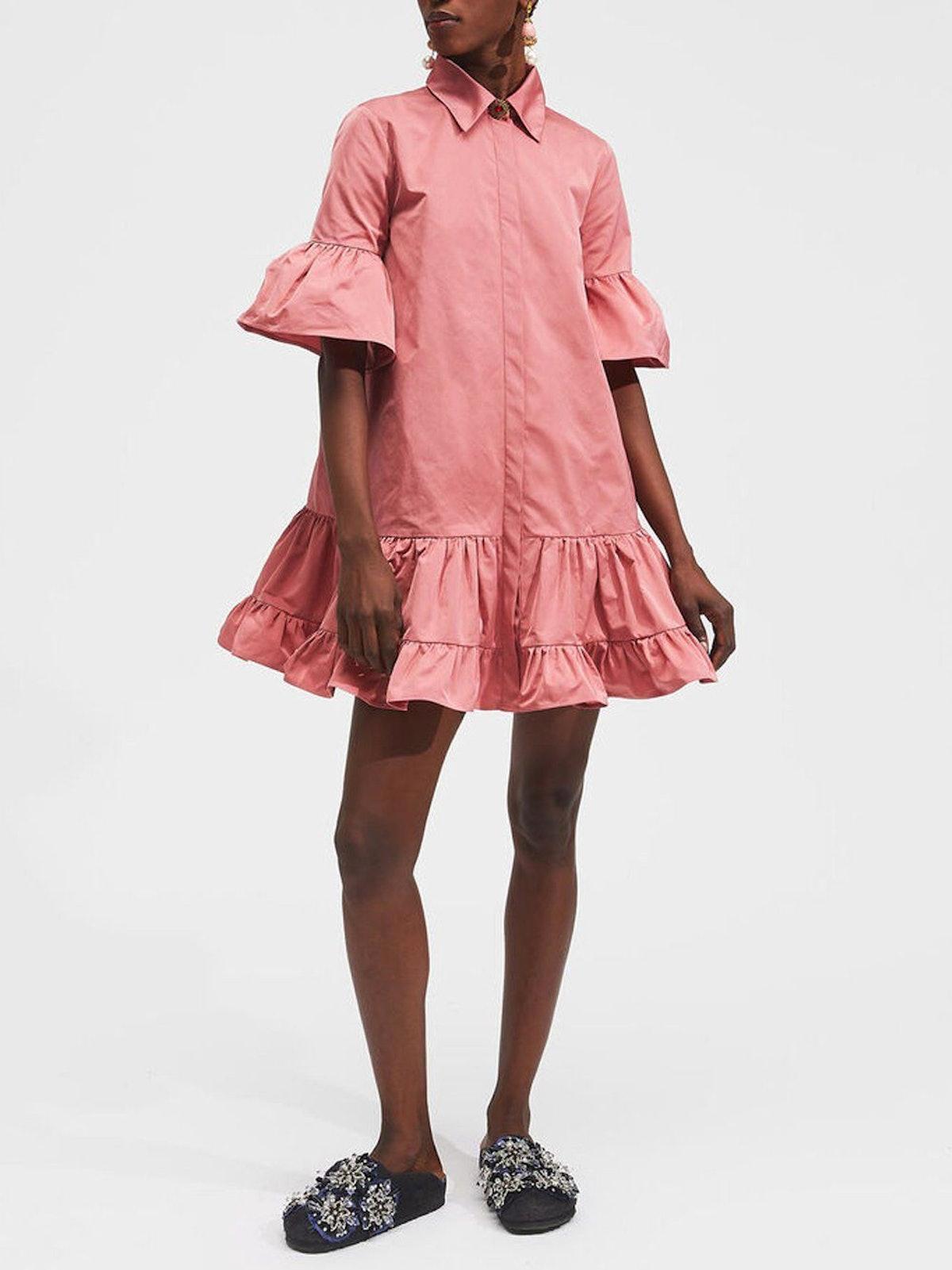 Choux 3/4 Sleeve Mini Floral Dress: image 1