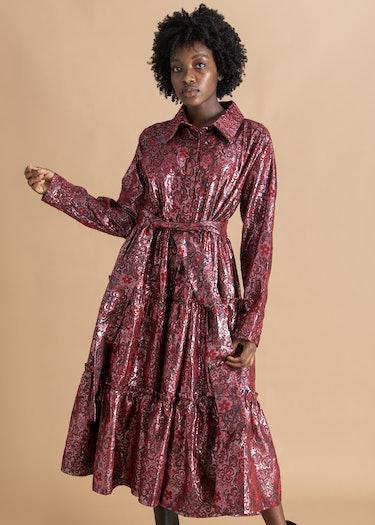 Naddie Jacquard Shirt Dress: image 1