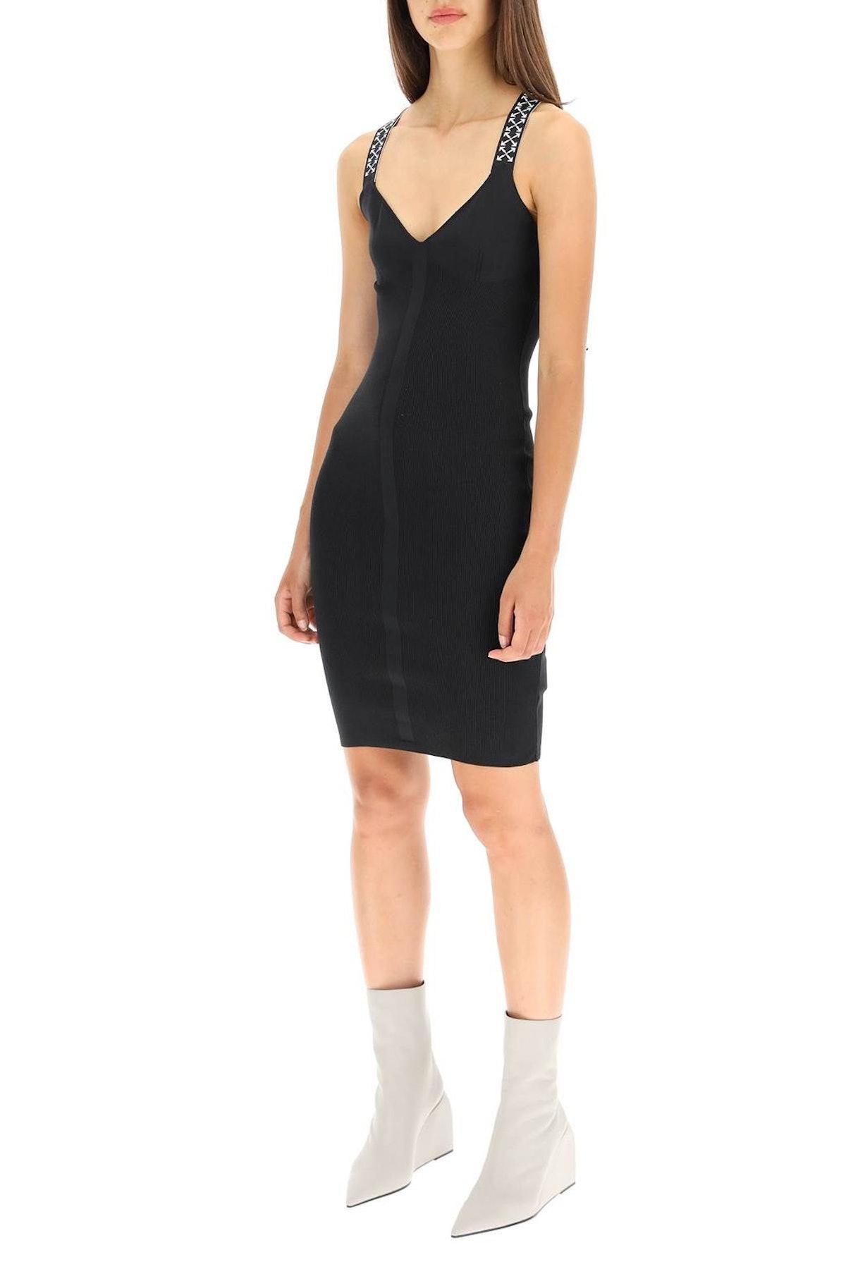 Off-white Bold Knit Dress: image 1