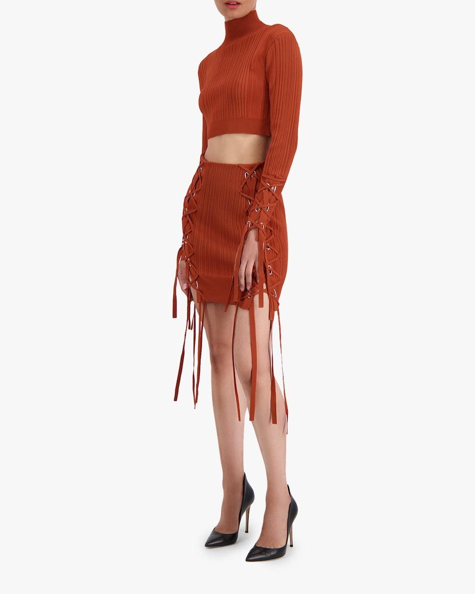Rib Lace Mini Skirt: additional image