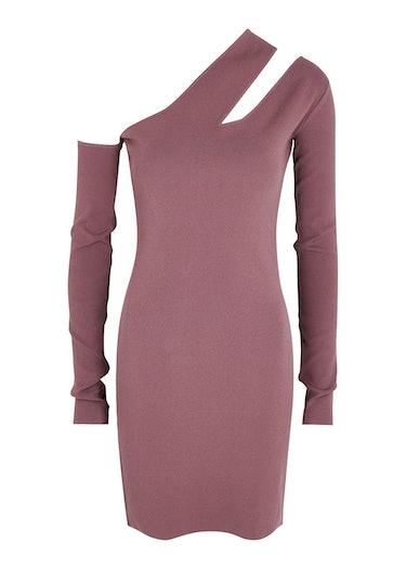 Shani mauve cut-out stretch-knit mini dress: image 1