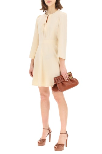 See By Chloe Crepe Dress With Bows: image 1
