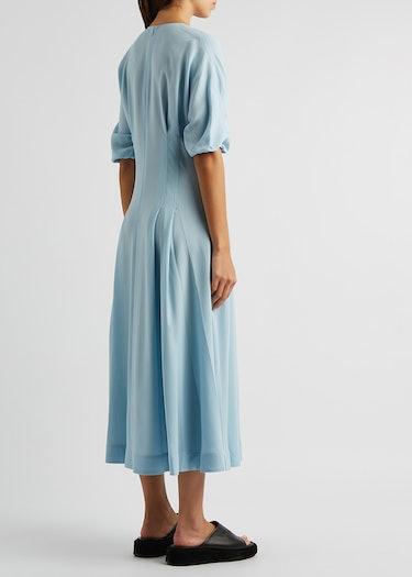 Light blue midi dress: additional image
