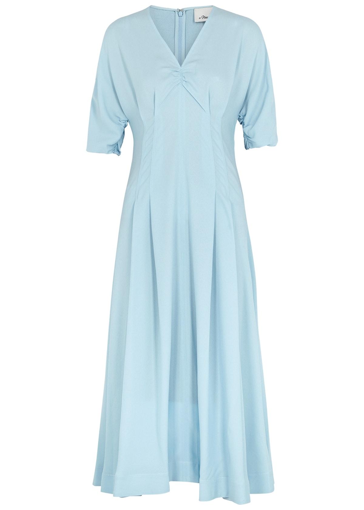 Light blue midi dress: image 1