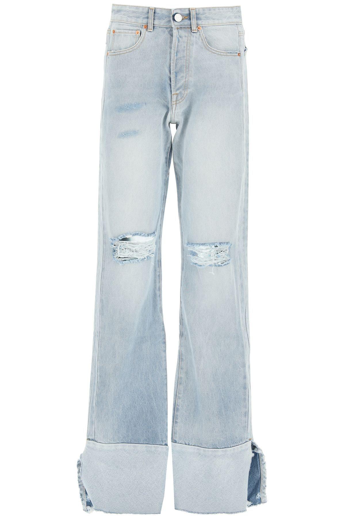Vetements Wide Leg Destroyed Cut-up Jeans: image 1
