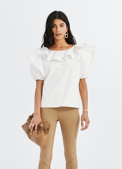 Short Sleeve Ruffle Top: image 1