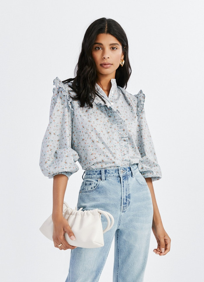 Floral Ruffle Shirt: image 1