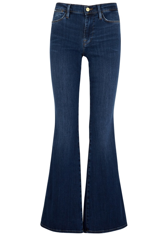 Le High Flare dark blue jeans: image 1