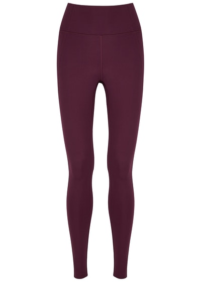 Compressive purple high-rise leggings: image 1