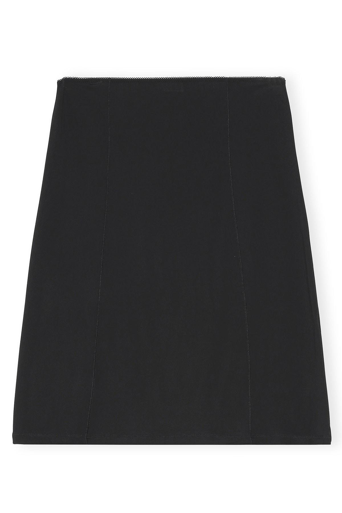 Rayon Slip Skirt in Black: image 1