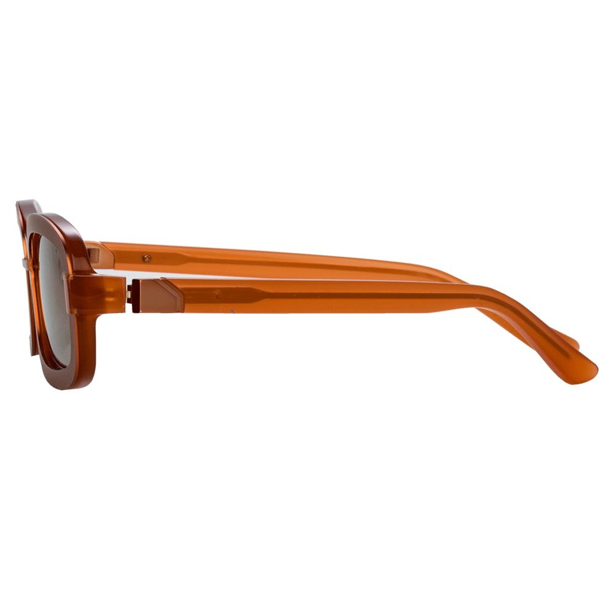 Y/Project 6 Rectangular Sunglasses in Brown: additional image
