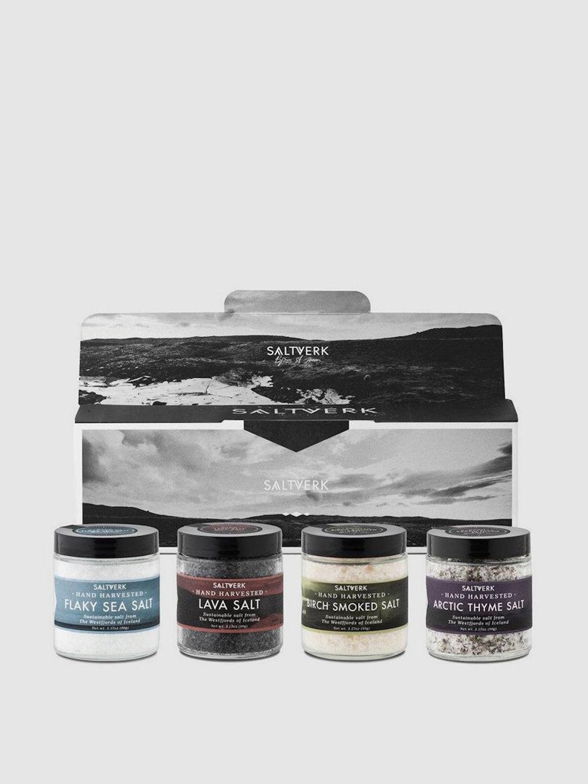 SALTVERK  Gift Box: Arctic Thyme Salt + Lava Salt + Flaky Sea Salt + Birch Smoked Salt: image 1