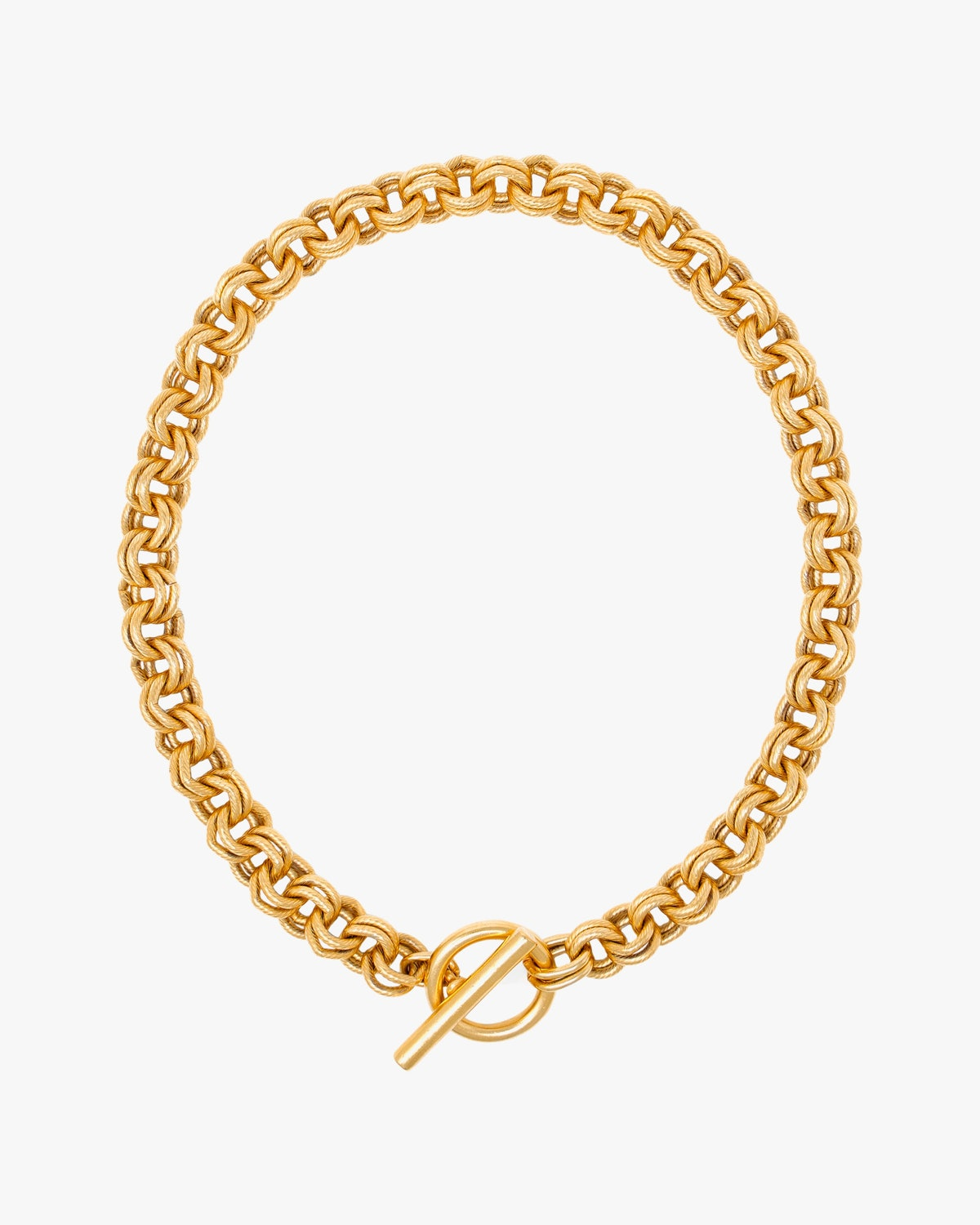 Gold Chain Link Necklace: image 1