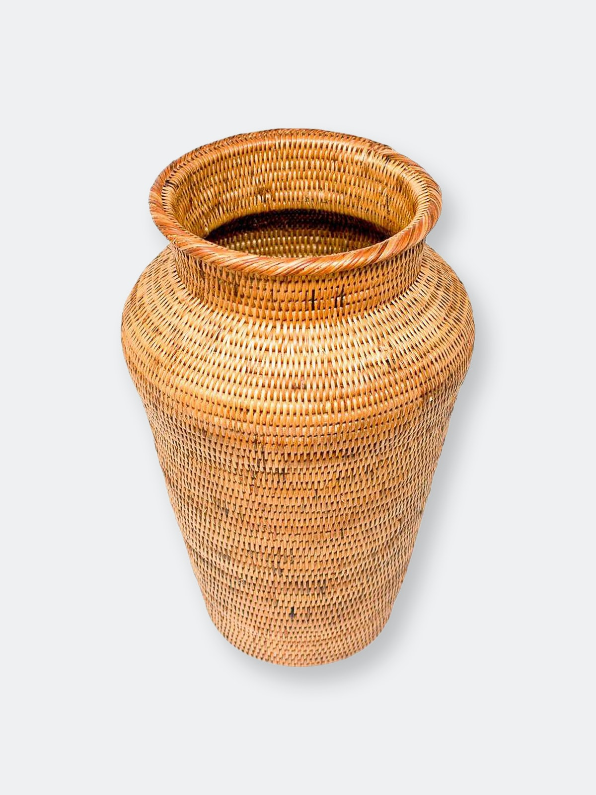 Honey Rattan Decor Vase: image 1