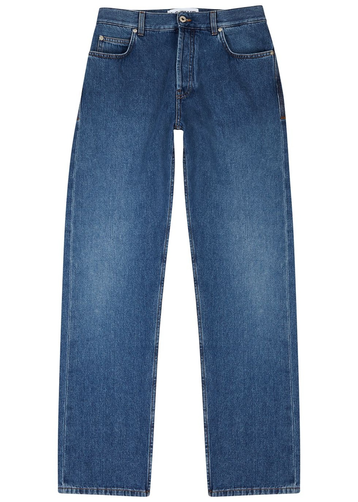 Blue logo tapered jeans: image 1