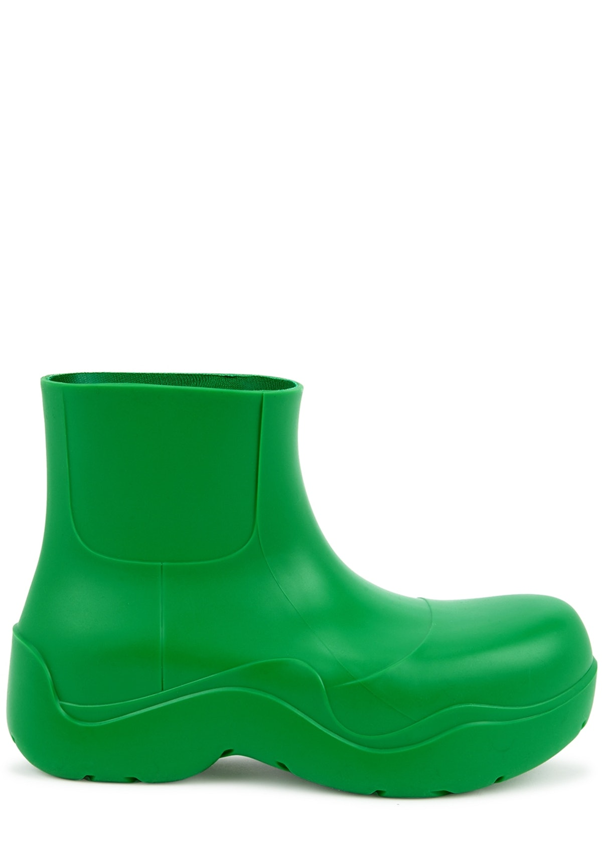 Puddle green rubber ankle boots: image 1
