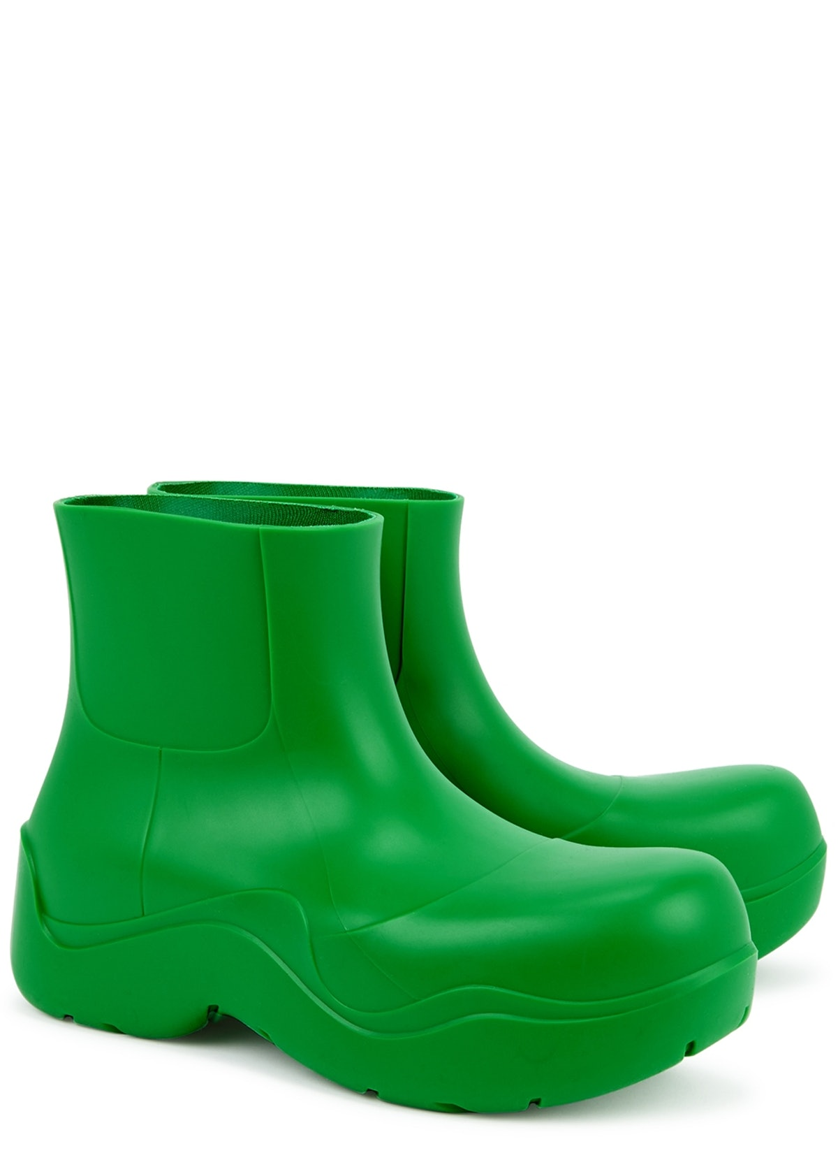 Puddle green rubber ankle boots: additional image