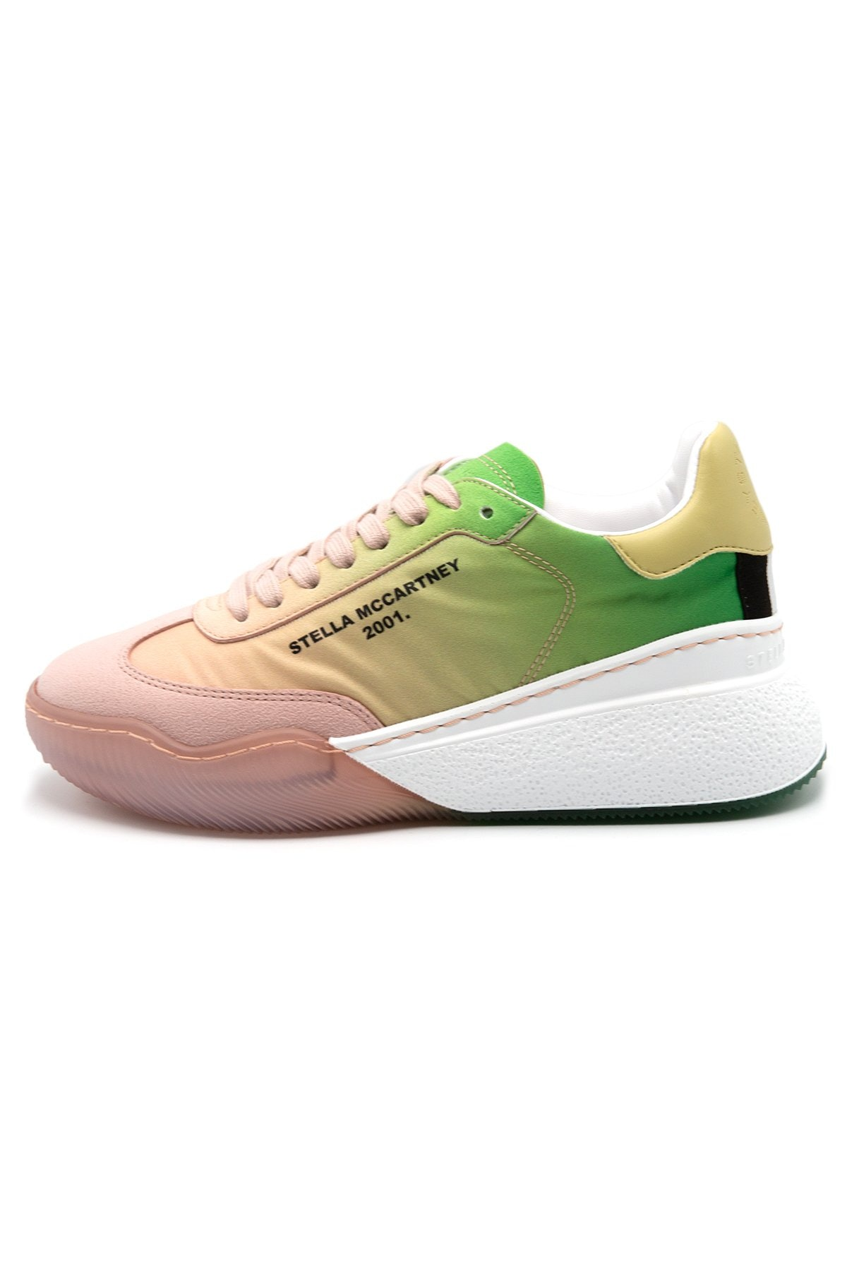 Loop Recycled Polyester Sneaker in Peach Degrade: image 1