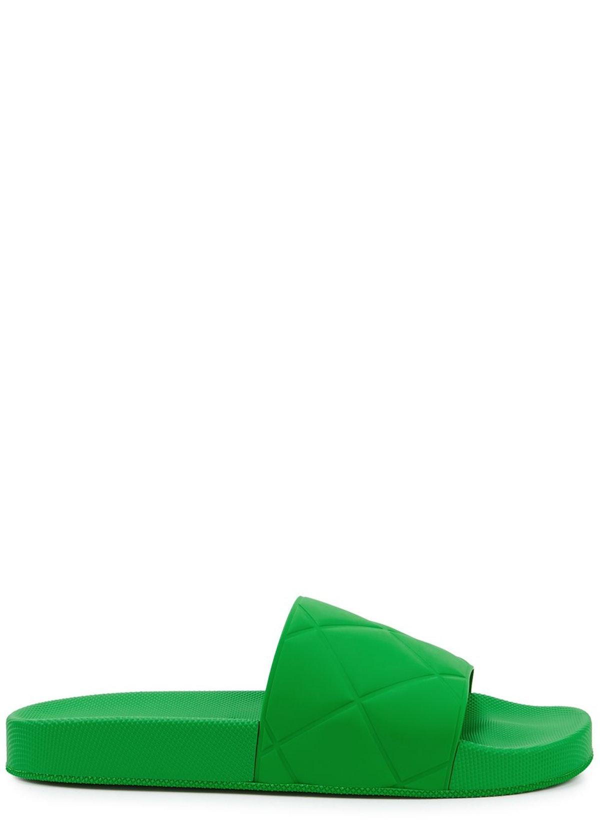 Green matte rubber sliders: image 1