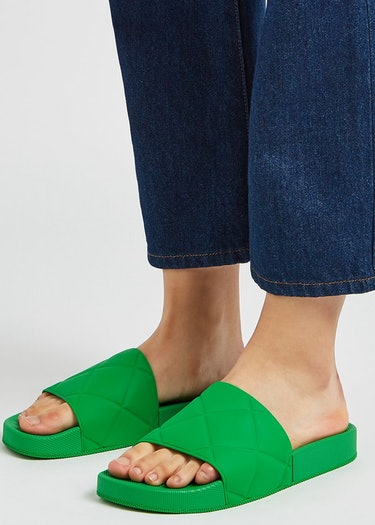 Green matte rubber sliders: additional image