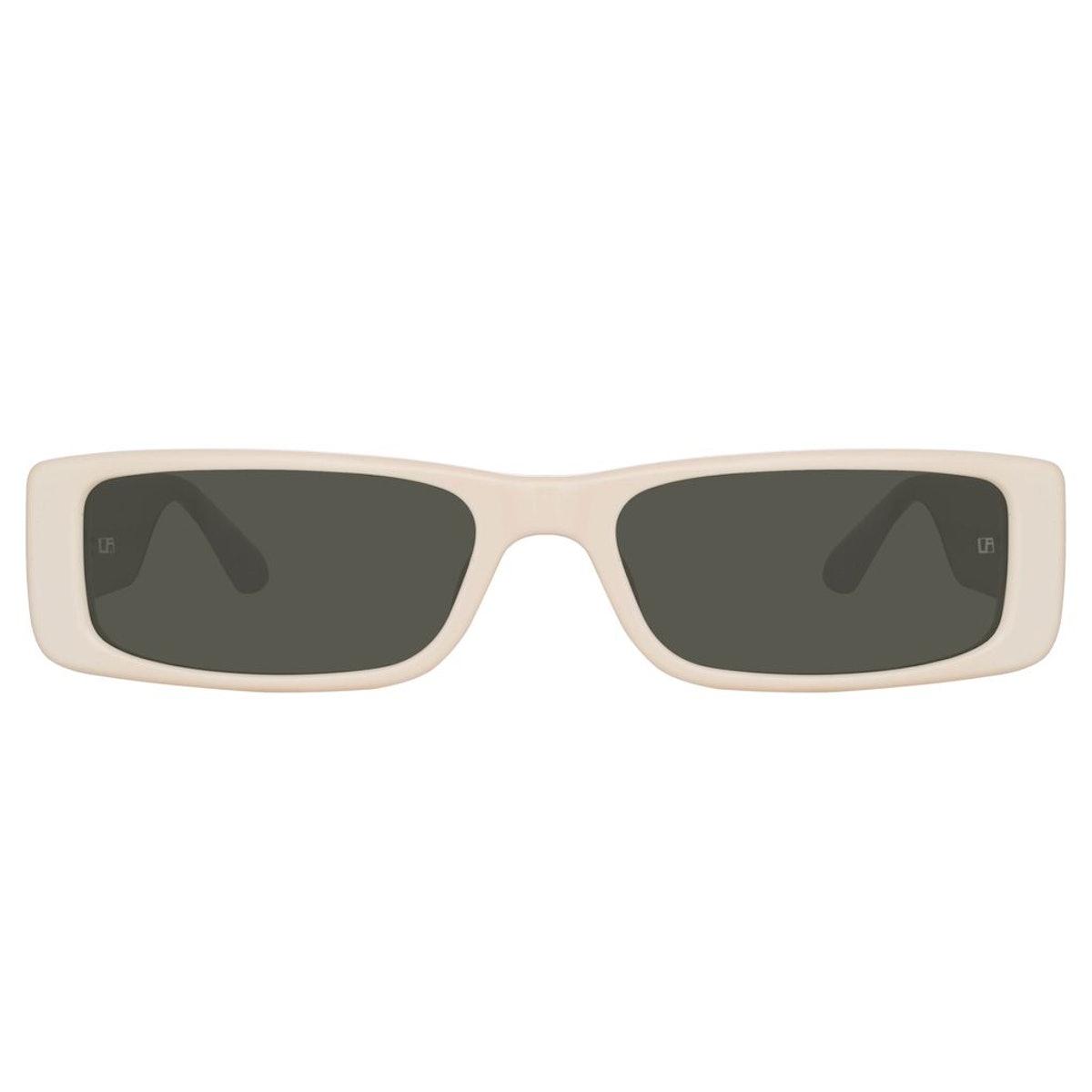 Dania Rectangular Sunglasses in Cream: image 1