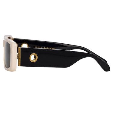 Dania Rectangular Sunglasses in Cream: additional image