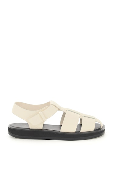 The Row Fisherman Hammered Leather Sandals: image 1