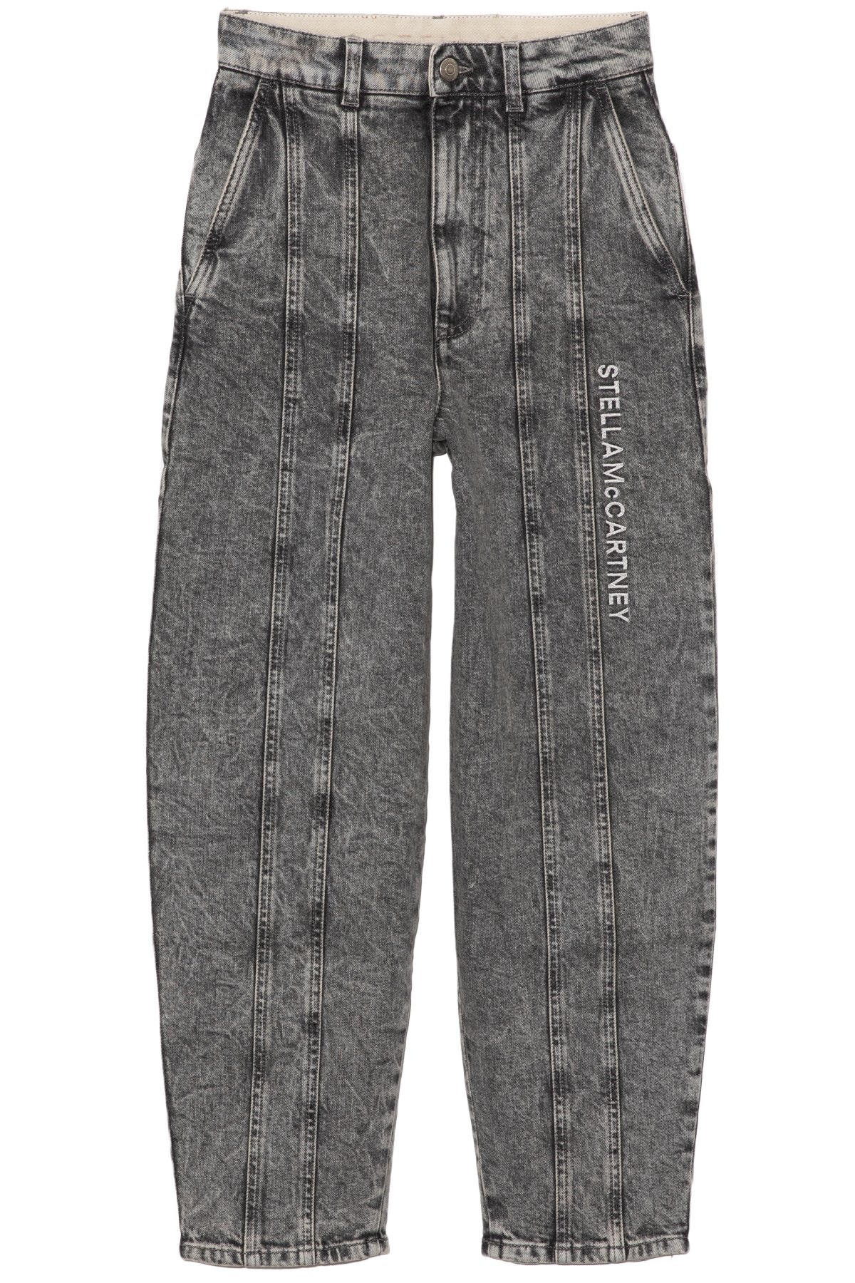 Embroidered Logo Trousers in Grey Galaxy Wash: image 1