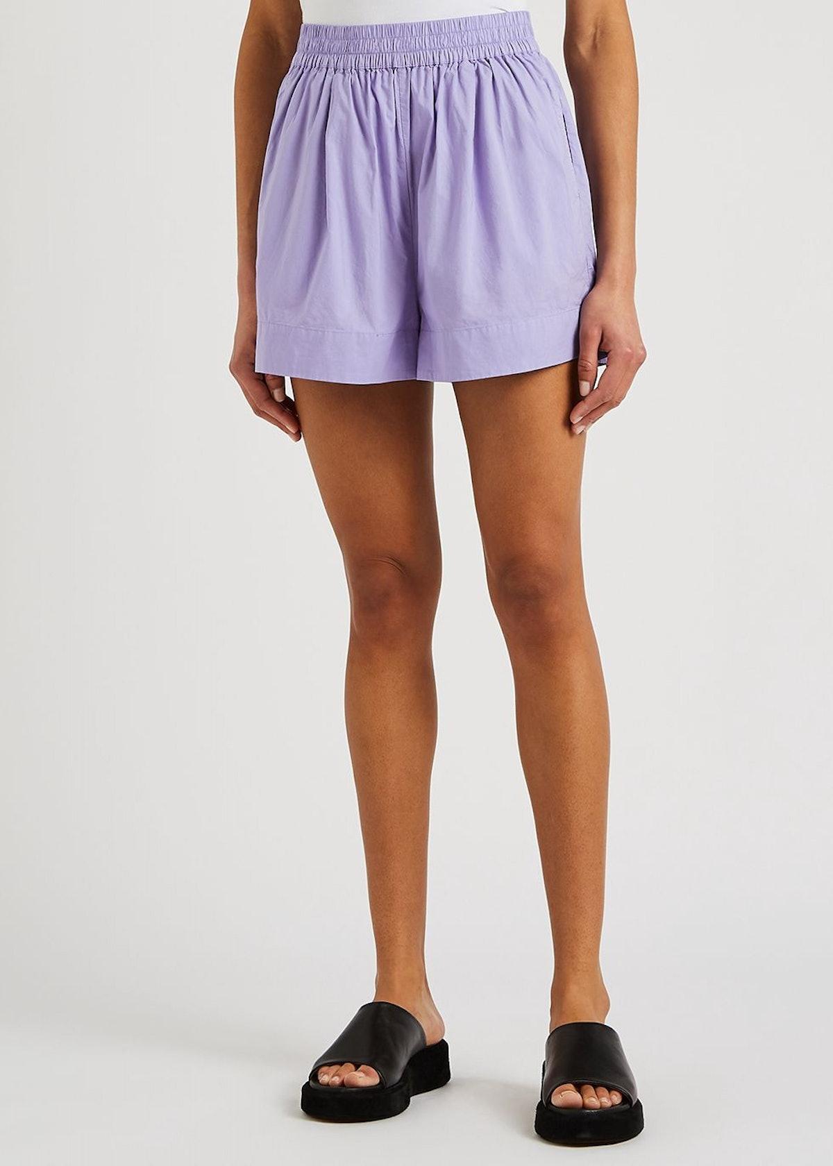 Chiara purple cotton shorts: image 1