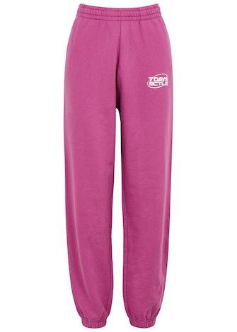 Monday pink logo cotton sweatpants: image 1