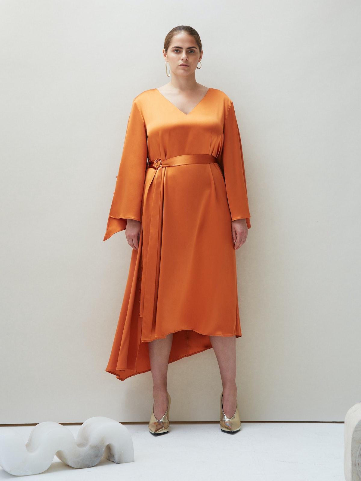 Dua Dress in Orange: image 1