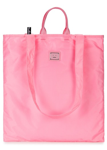 Awen Face pink ripstop shell tote: image 1