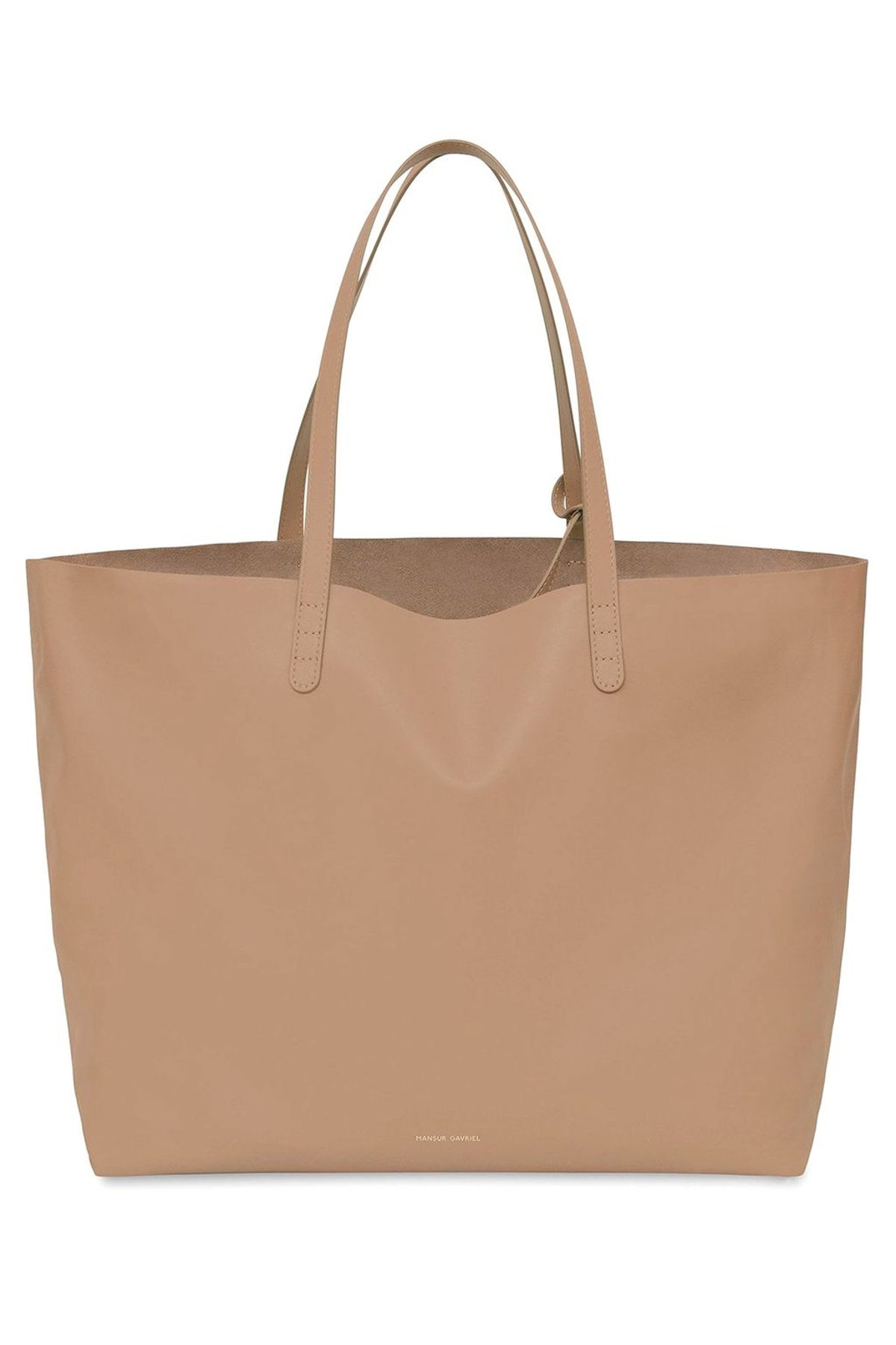Oversized Tote in Biscotto: image 1
