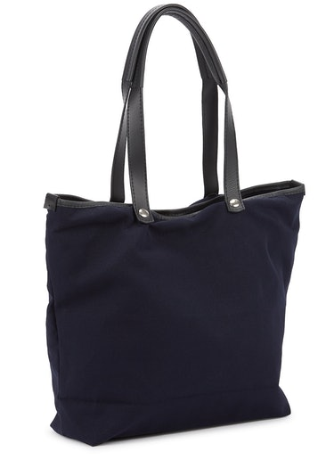 Studio navy printed canvas tote: additional image