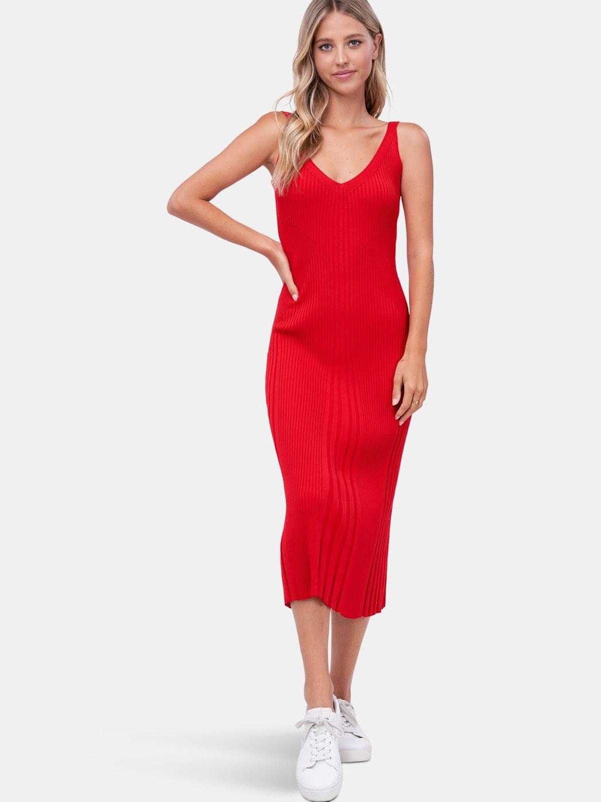 Aria Knit Midi Dress: image 1