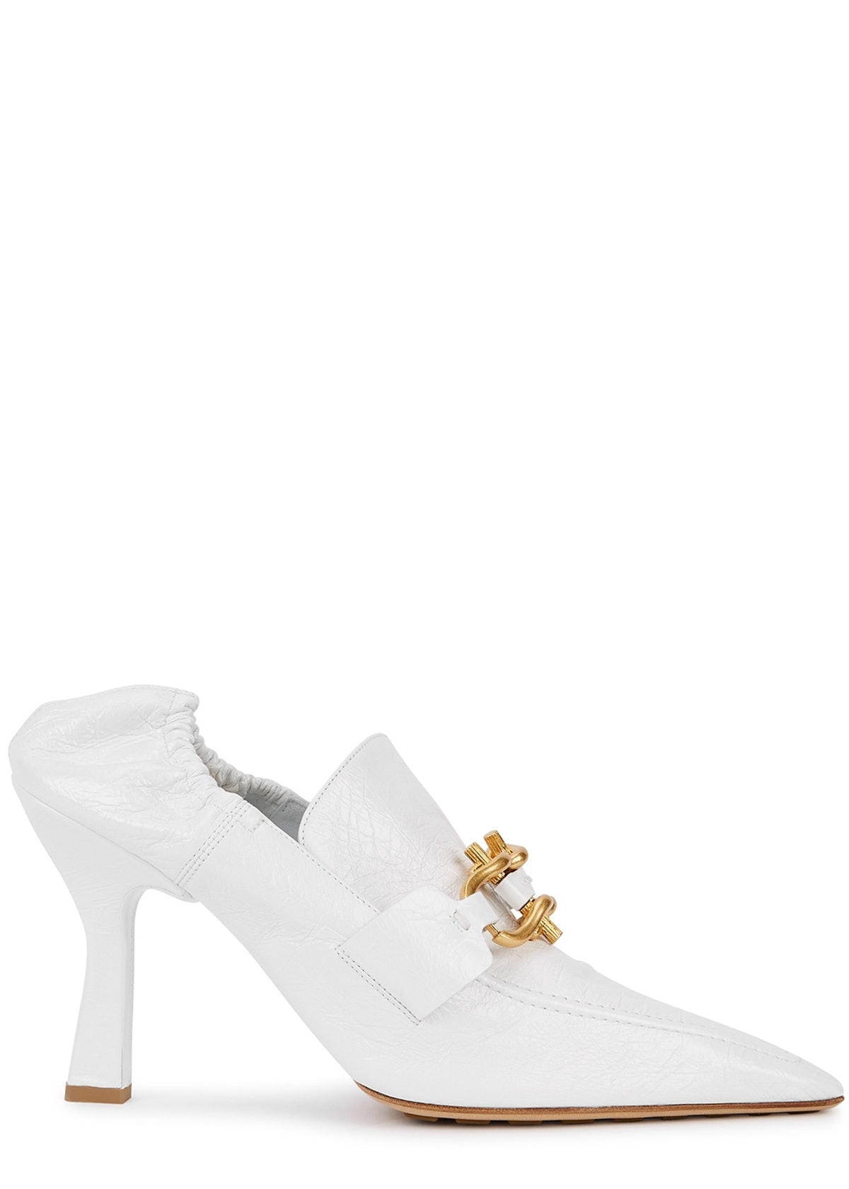 The Madame 90 white leather pumps: image 1